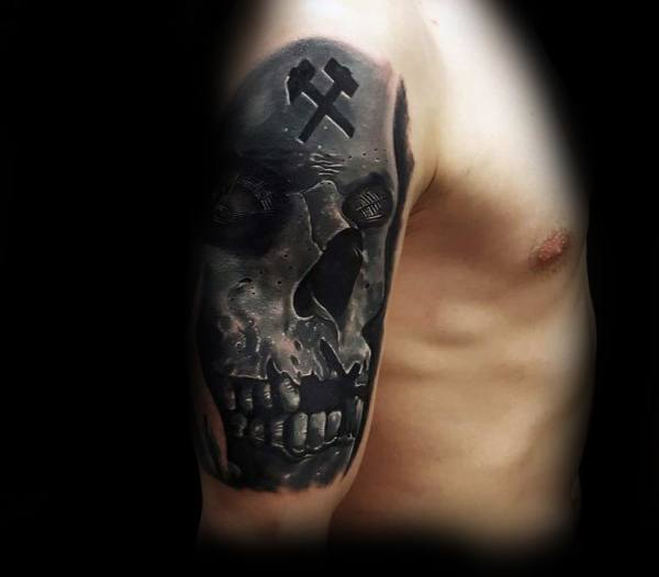 Good Coal Mining Tattoo Designs For Men