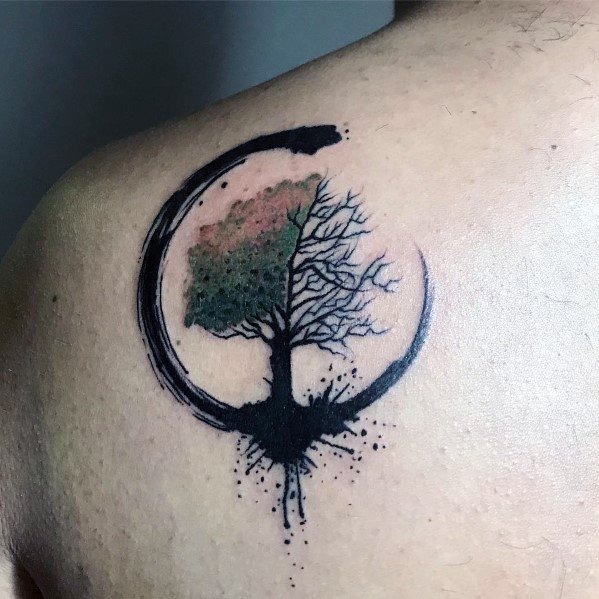 Good Cool Tree Tattoo Designs For Men