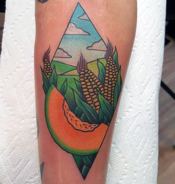 Good Corn Tattoo Designs For Men