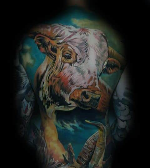 Good Cow Tattoo Designs For Men