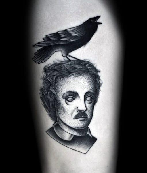 Good Edgar Allan Poe Tattoo Designs For Men