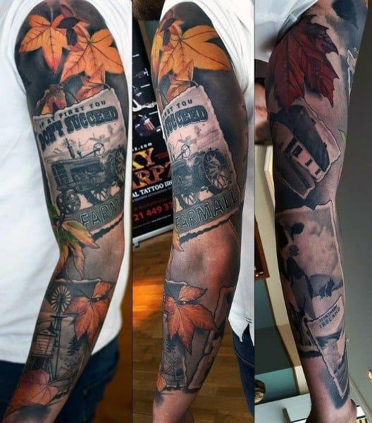 Good Farming Tattoo Designs For Men
