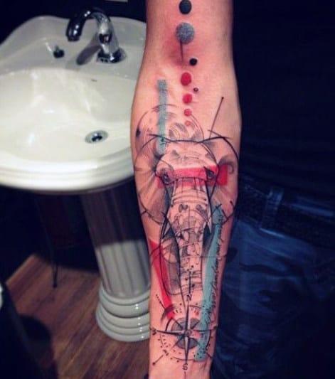 Good Elephant Forearm Tattoos