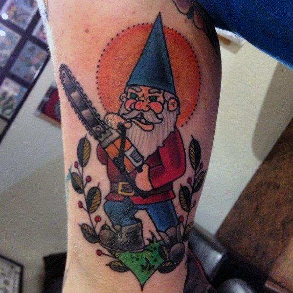 Good Gnome Tattoo Designs For Men