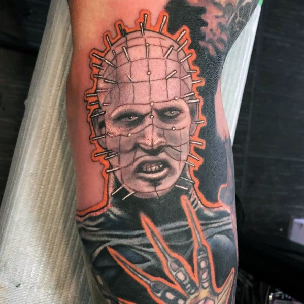 Good Hellraiser Tattoo Designs For Men