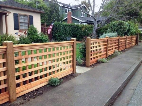 Good Ideas For Front Yard Fence Wood Lattice
