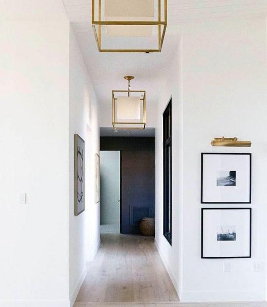 Good Ideas For Hallway Lighting Gold Chandeliers