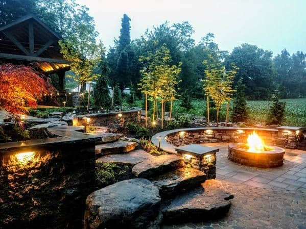 Good Ideas For Landscape Lighting Patio Firepit Area