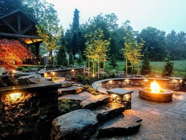 Good Ideas For Landscape Lighting Patio Firepit Area