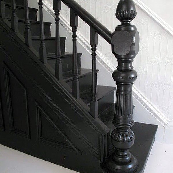Good Ideas For Painted Staircase Flat Black