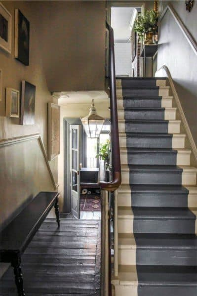 Good Ideas For Painted Stairs Blue