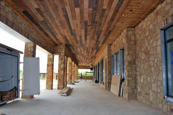 Good Ideas For Patio Ceiling Salvaged Barn Wood Look
