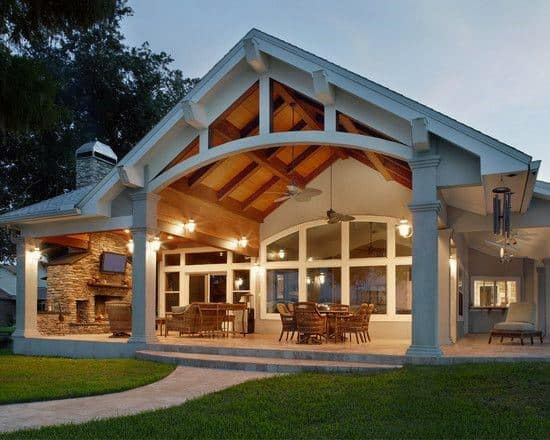 Good Ideas For Patio Large Wood Roof