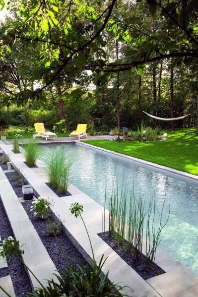 Good Ideas For Pool Landscaping Minimalistic Modern