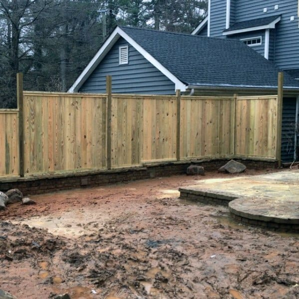 Good Ideas For Privacy Wood Unstained Fence