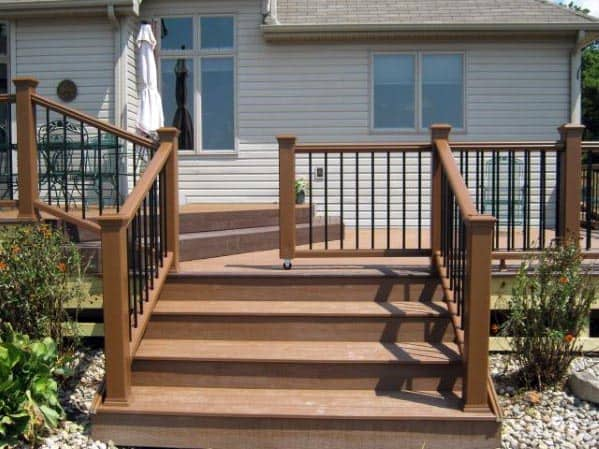 Good Ideas For Rolling Deck Gate With Large Steps