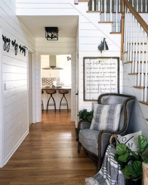 Good Ideas For Shiplap Wall Hallway Staircase Foyer