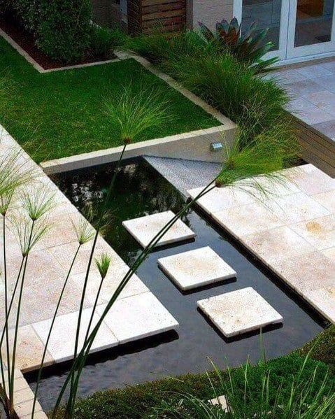 Good Ideas For Stepping Stone Over Water Pond