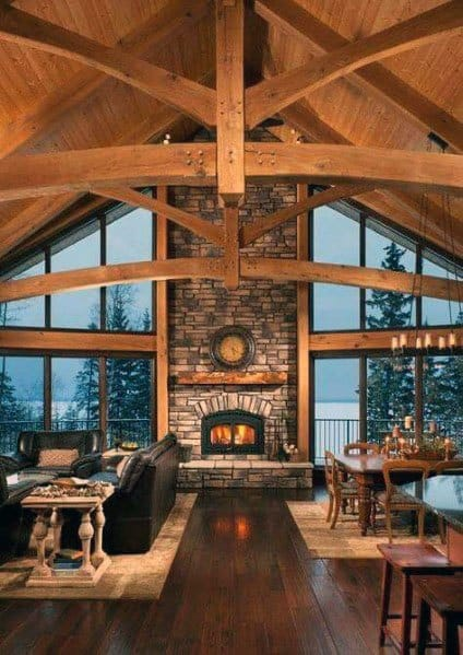 Good Ideas For Tall Wood Beam Vaulted Ceilings
