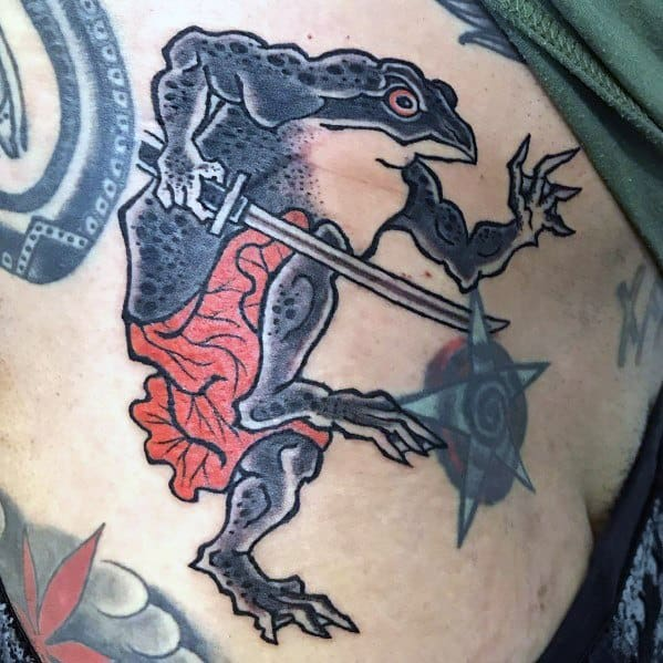 Good Japanese Frog Tattoo Designs For Men