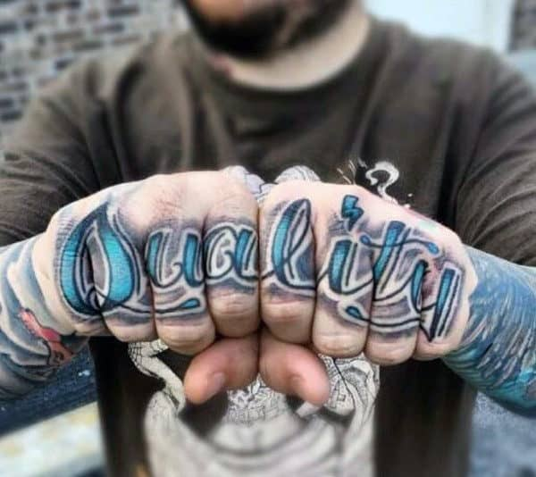 Good Knuckle Tattoos Men