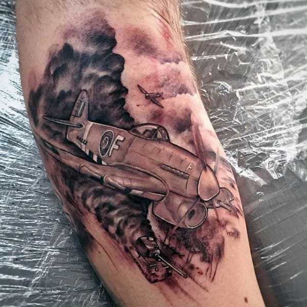 Good Military Tattoos Men Of Fighter Jets