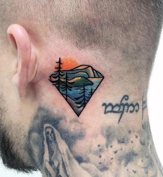 Good Minimalist Mountain Tattoo Designs For Men