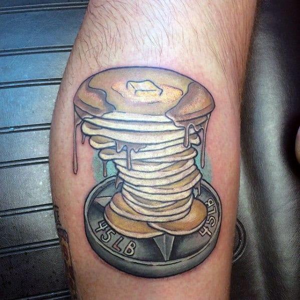 Good Pancake Tattoo Designs For Men