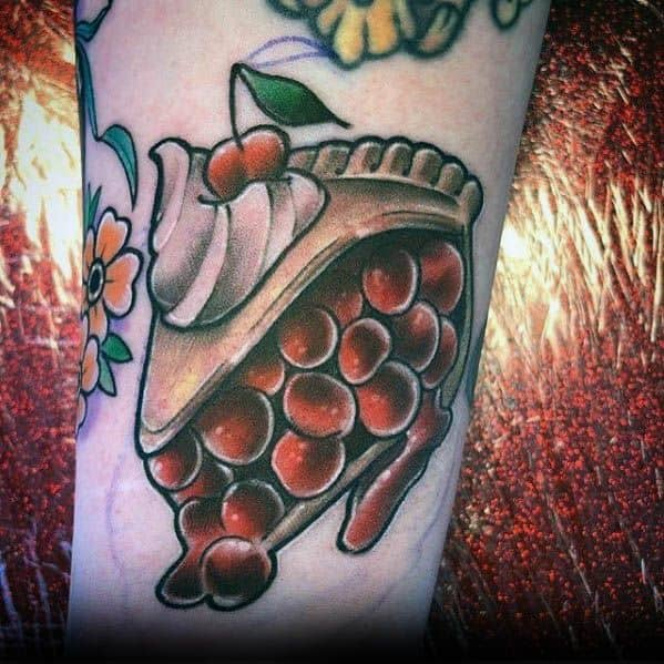 Good Pie Tattoo Designs For Men