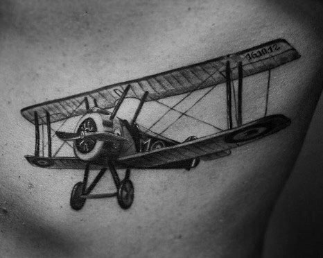 Good Propeller Tattoo Designs For Men