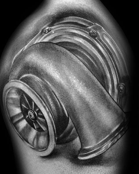 Good Turbo Tattoo Designs For Men
