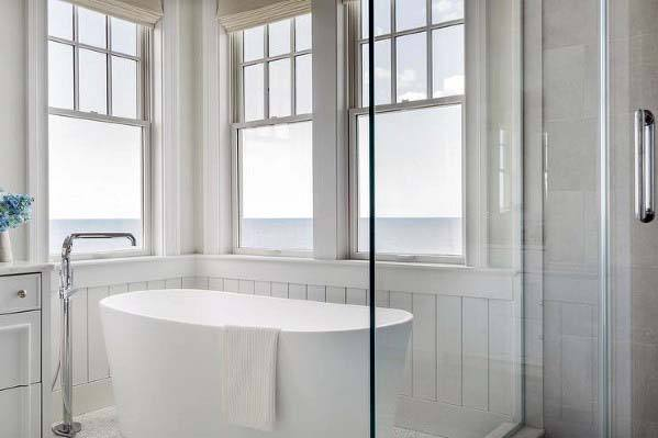 Good Wall Ideas For Shiplap Bathroom Surronding Tub
