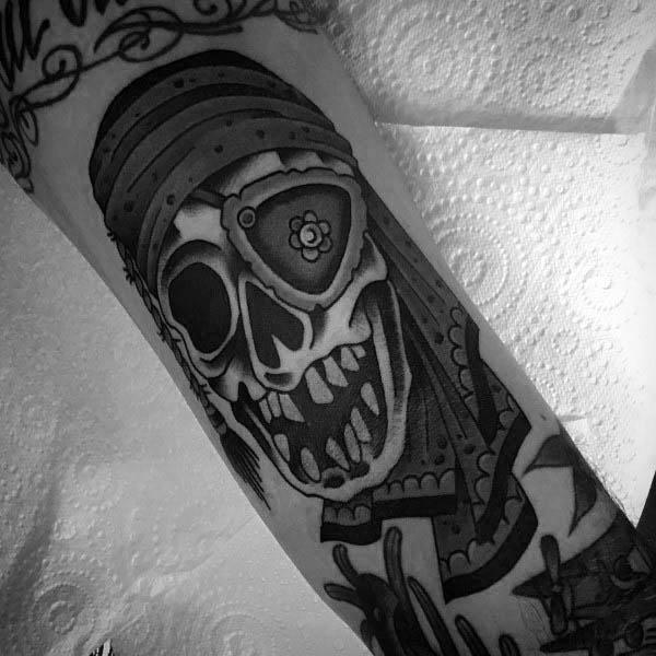 Goonies Skull Retro Tattoo