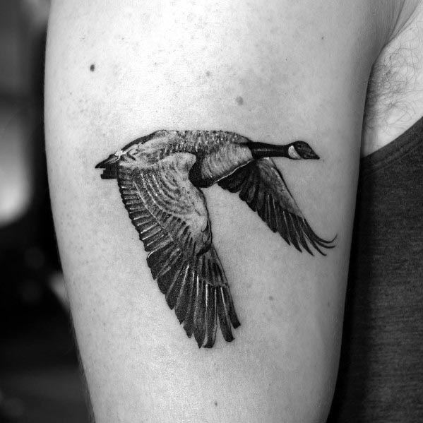 Goose Themed Tattoo Ideas For Men