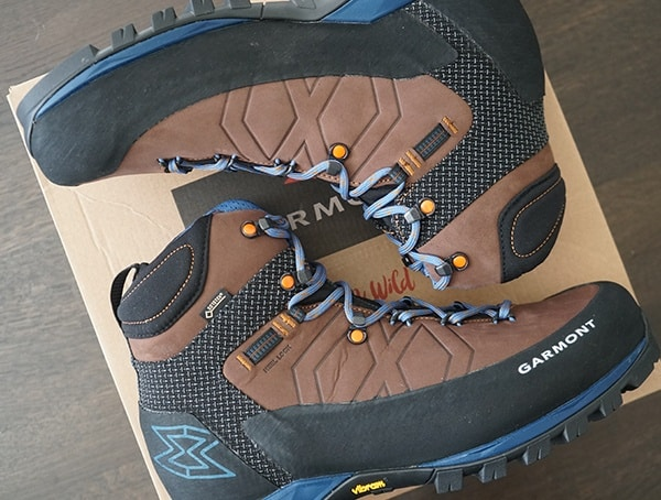 Gore Tex Leather Mens Hiking Boots Mens Garmont Toubkal Brown Black And Blue