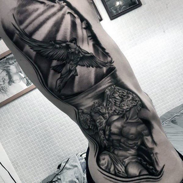 Gorgeous Black And Grey Tattoo Male Forearms