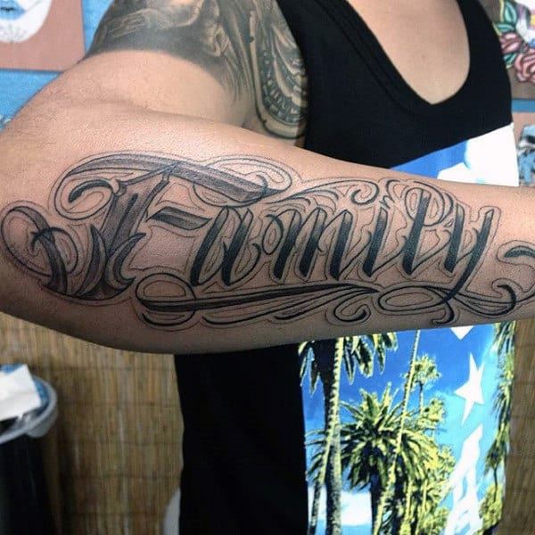 Family Tattoo On Biceps