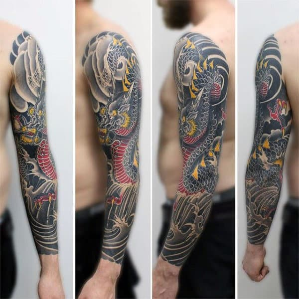 Gorgeous Dragon Tattoo Male Full Sleeves