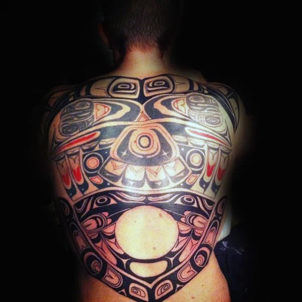 Gorgeous Haida Tattoo Male Full Back