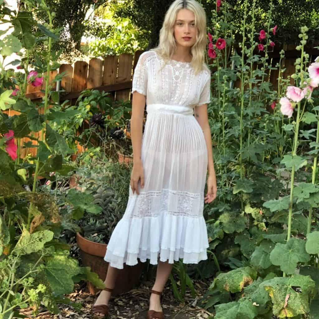 Gorgeous White Victorian Dress