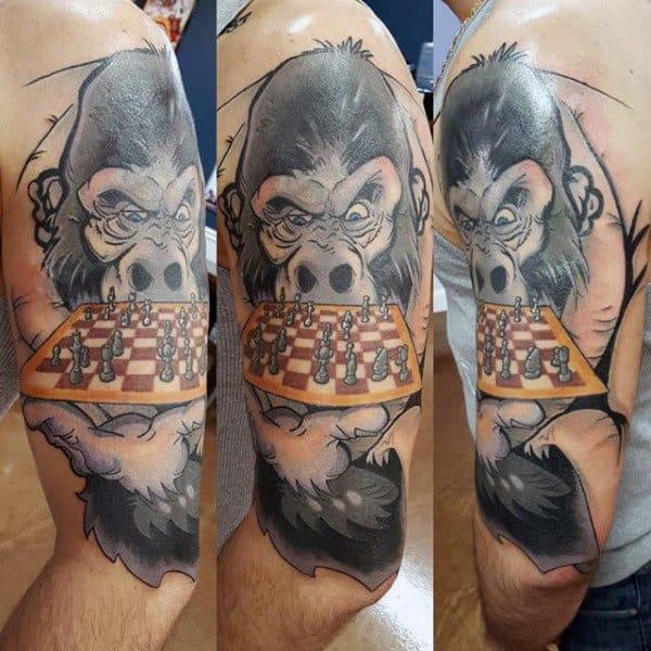 Gorilla Jiu Jitsu Guys Half Sleeve Tattoo