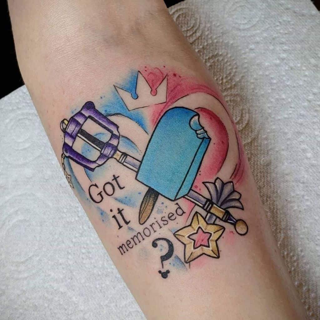 Got It Memorised Kingdom Heart Tattoo