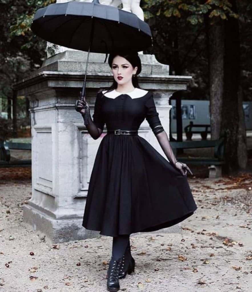 Gothic Black Victorian Dress