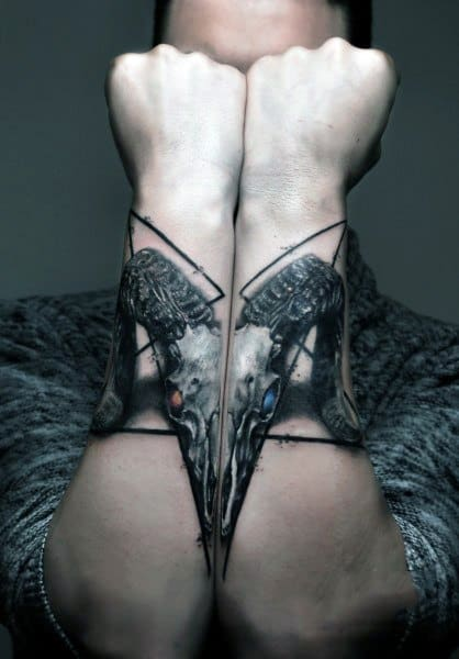 Gothic Tattoo On Man