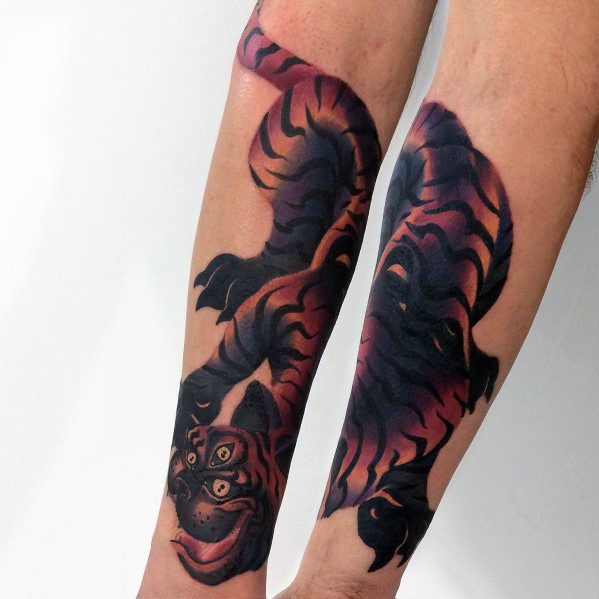 Gradient Mens Tattoo Designs