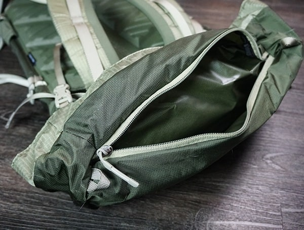Granite Gear Crown2 60 Pack Lid Pocket Open
