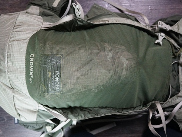 Granite Gear Crown2 60 Pack Strech Mesh Front Pocket With Poncho