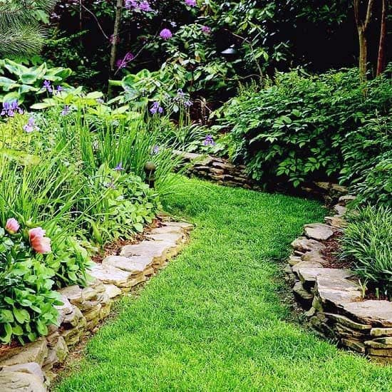 Grass Walkway Good Ideas For Stone Edging
