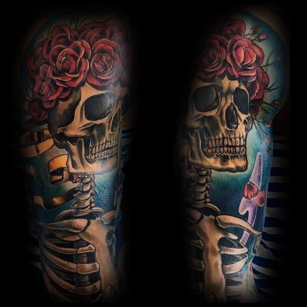 Grateful Dead Tattoo Design Ideas For Males