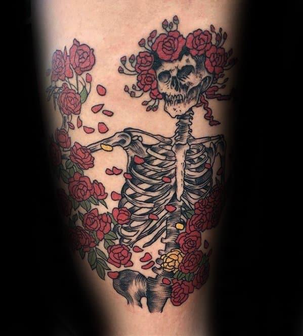 50 Grateful Dead Tattoo Designs For Men Rock Band Ink Ideas